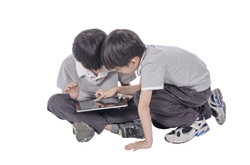 young people using ipad